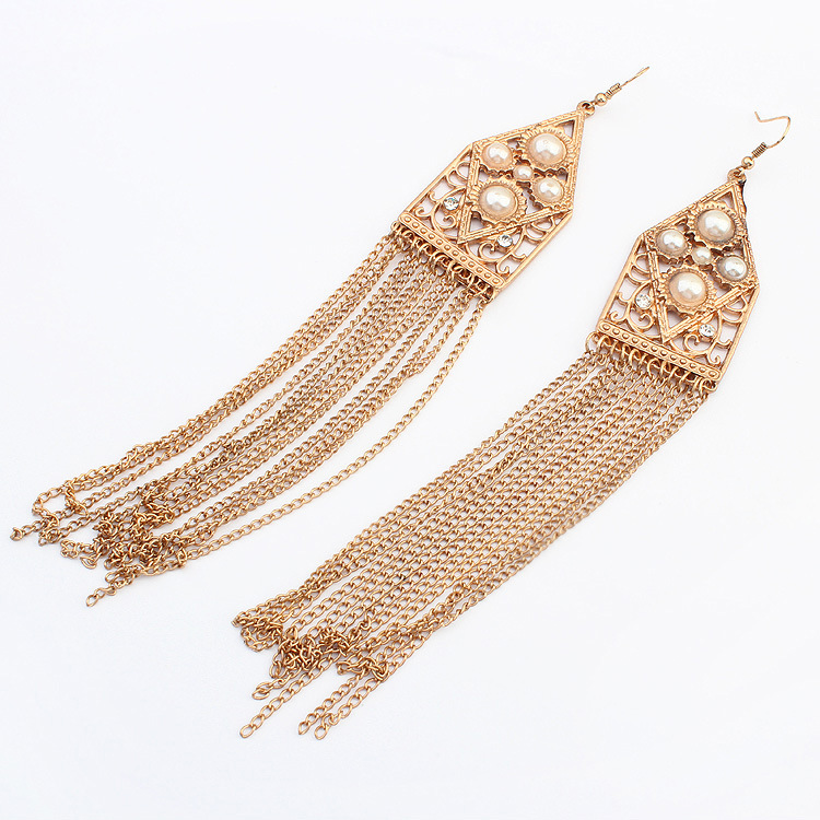 Vintage Punk tassel earrings